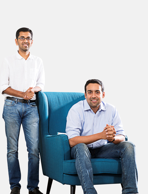 Co-Founders Ashish and Rajeev